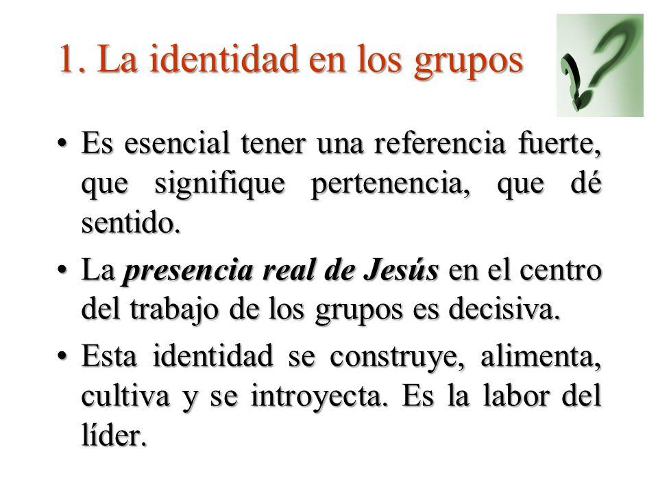 1. La identidad en los grupos