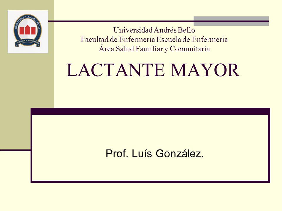 LACTANTE MAYOR Prof. Luís González.
