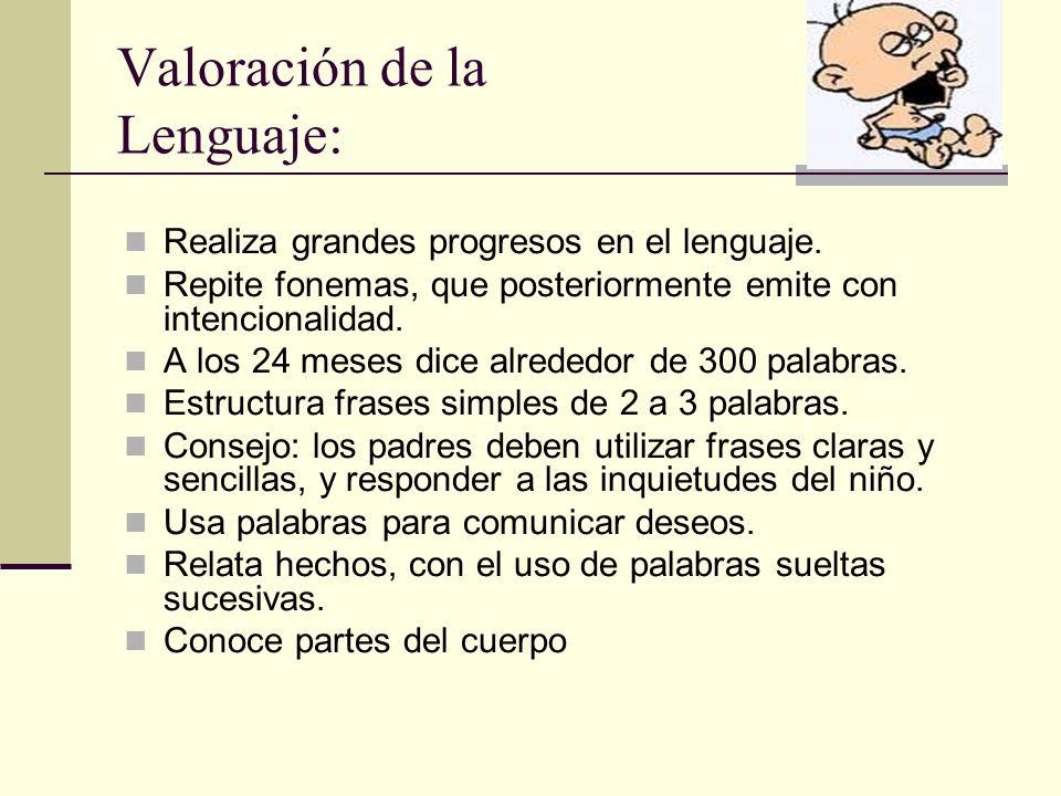 Valoración de la Lenguaje: