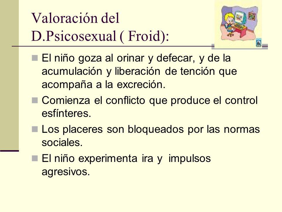 Valoración del D.Psicosexual ( Froid):