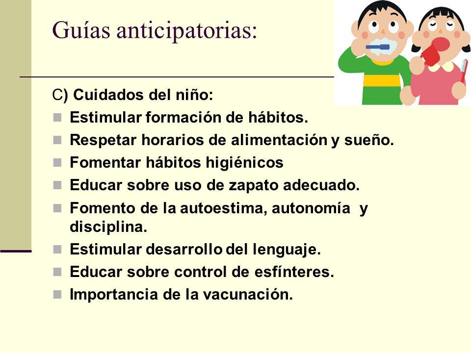 Guías anticipatorias: