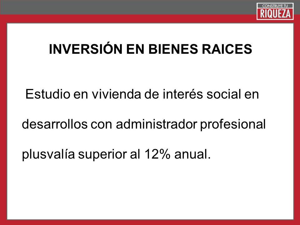 INVERSIÓN EN BIENES RAICES