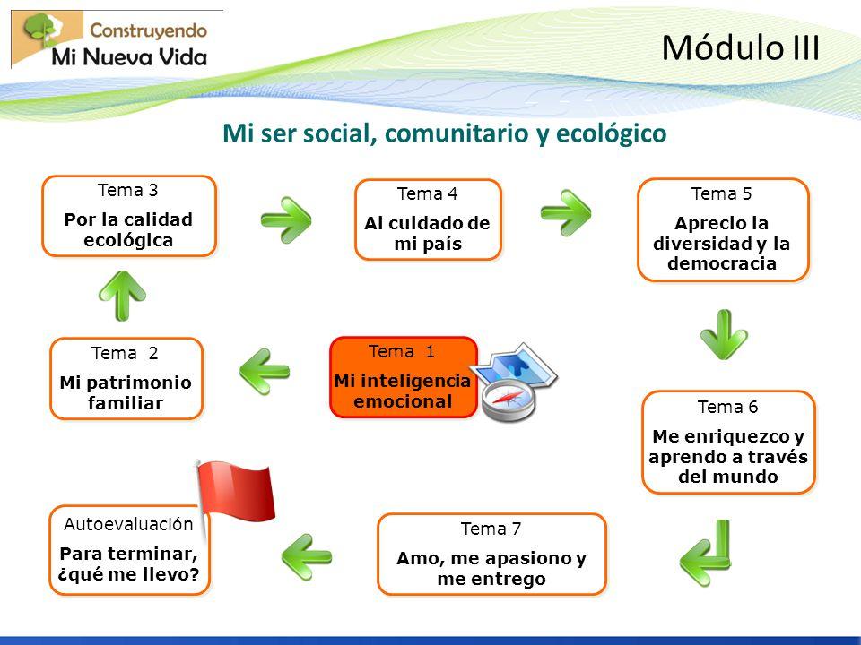Mi ser social, comunitario y ecológico