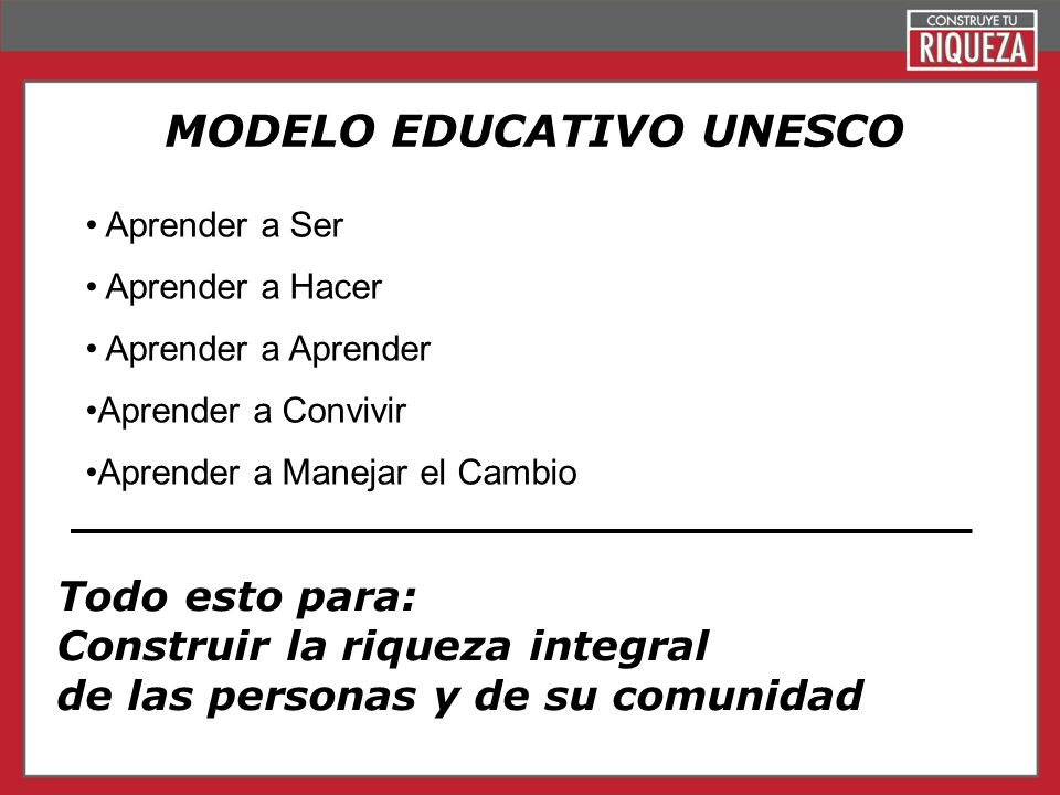 MODELO EDUCATIVO UNESCO