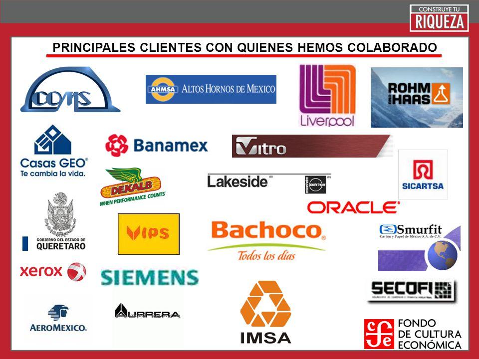 PRINCIPALES CLIENTES CON QUIENES HEMOS COLABORADO