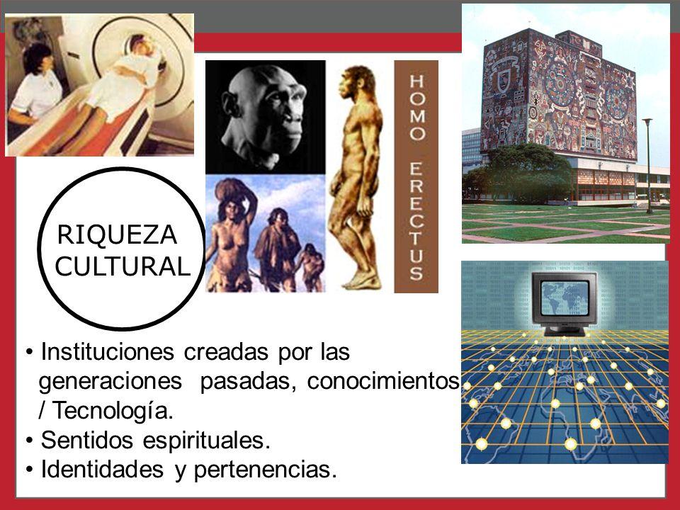 RIQUEZA CULTURAL Instituciones creadas por las