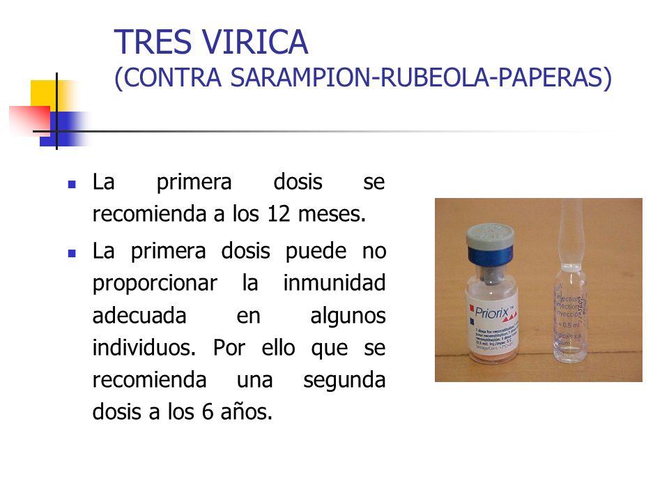 TRES VIRICA (CONTRA SARAMPION-RUBEOLA-PAPERAS)