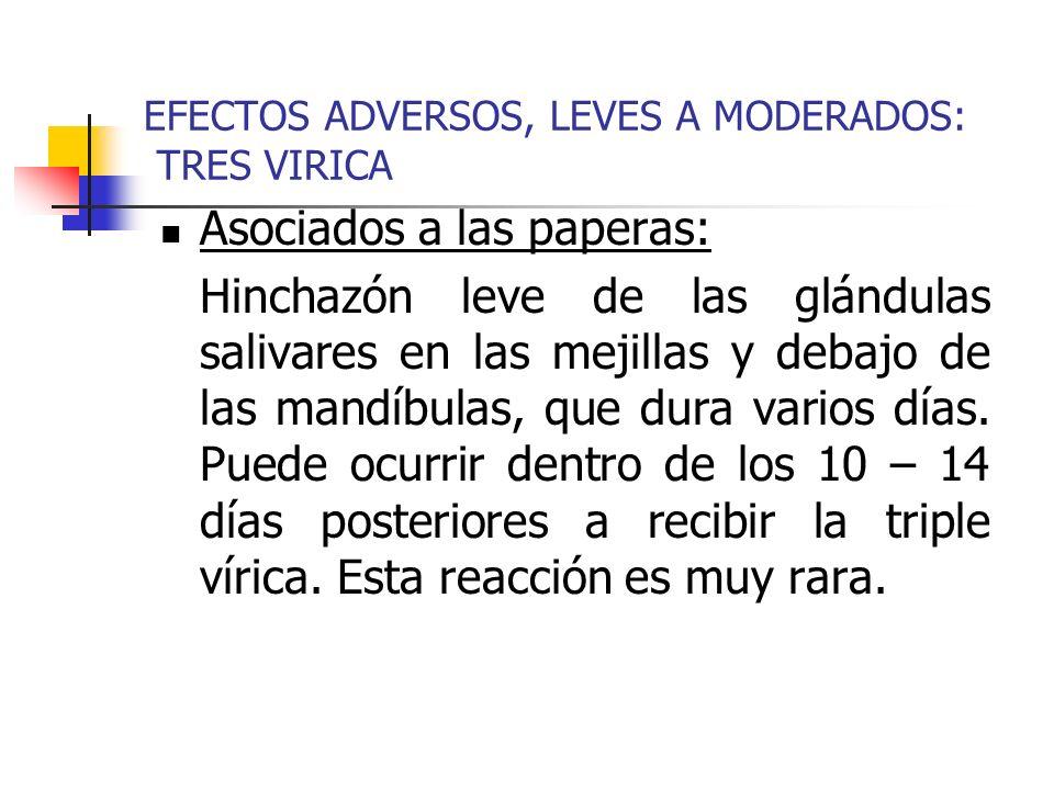 EFECTOS ADVERSOS, LEVES A MODERADOS: TRES VIRICA