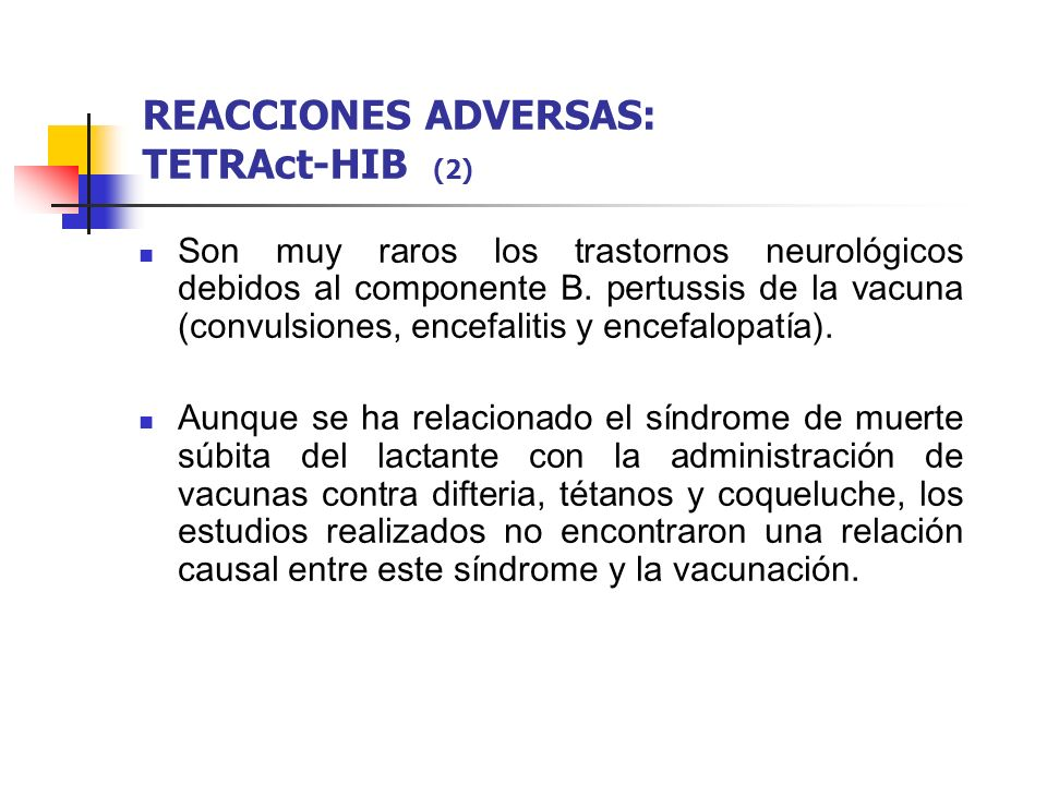 REACCIONES ADVERSAS: TETRAct-HIB (2)