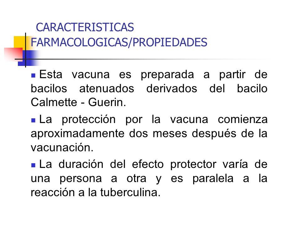 CARACTERISTICAS FARMACOLOGICAS/PROPIEDADES