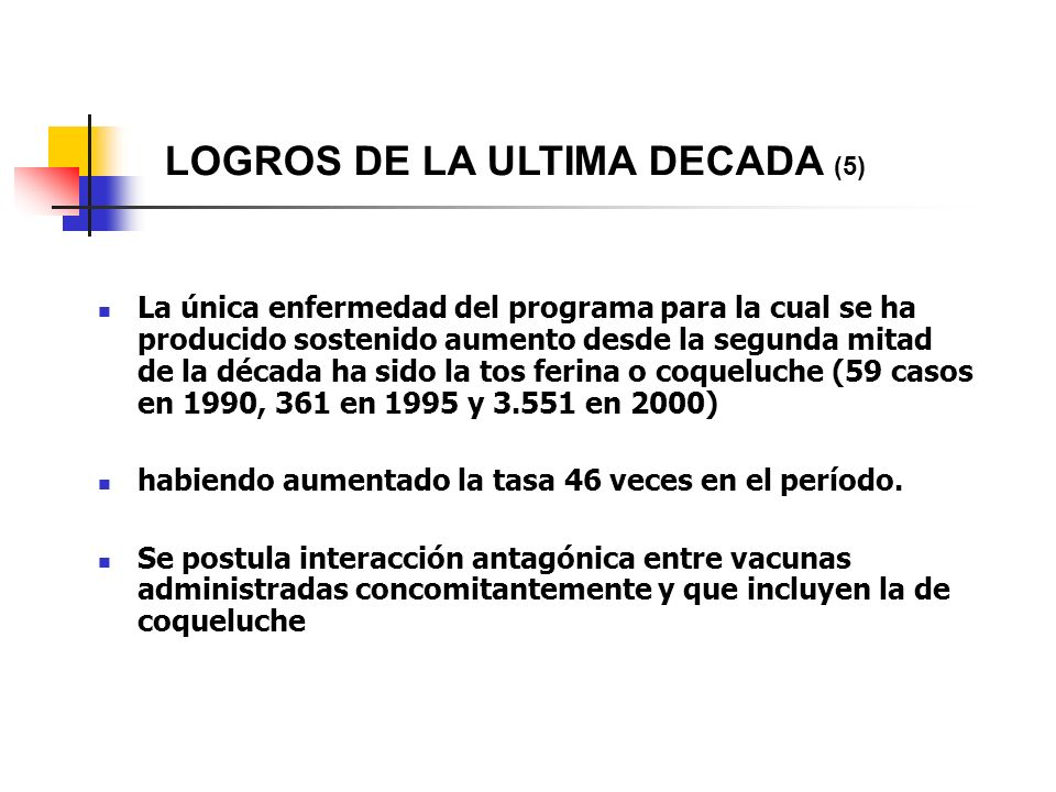 LOGROS DE LA ULTIMA DECADA (5)