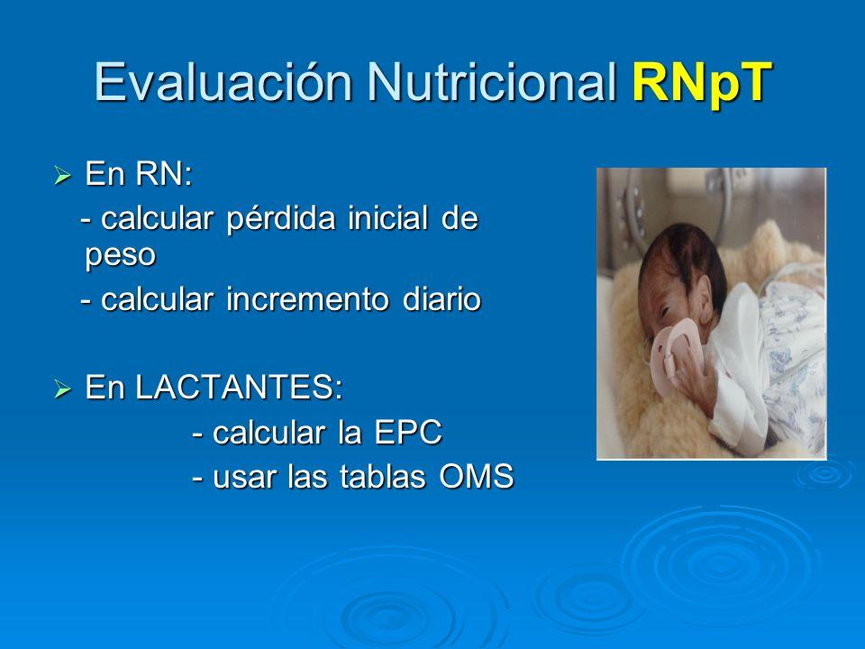 Evaluación Nutricional RNpT