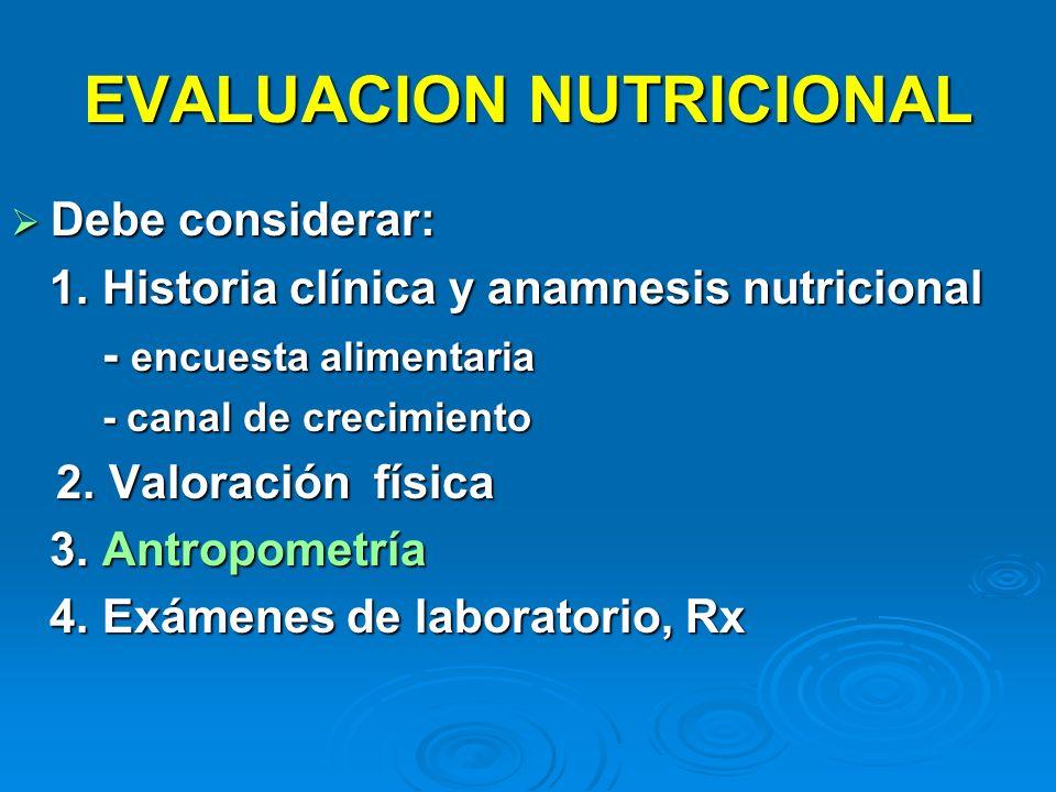 EVALUACION NUTRICIONAL