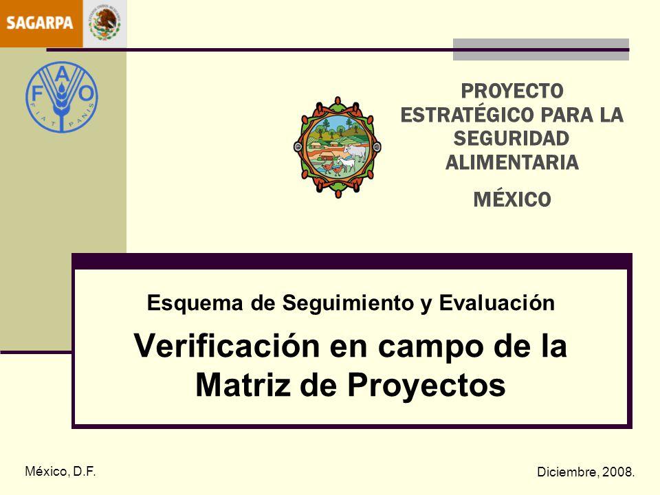 Verificación en campo de la Matriz de Proyectos
