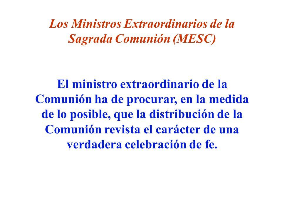Los Ministros Extraordinarios de la Sagrada Comunión (MESC)