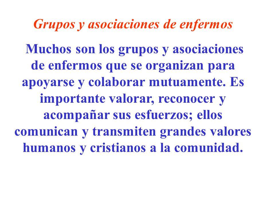 Grupos y asociaciones de enfermos