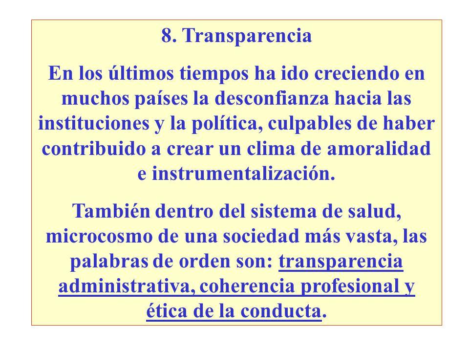 8. Transparencia