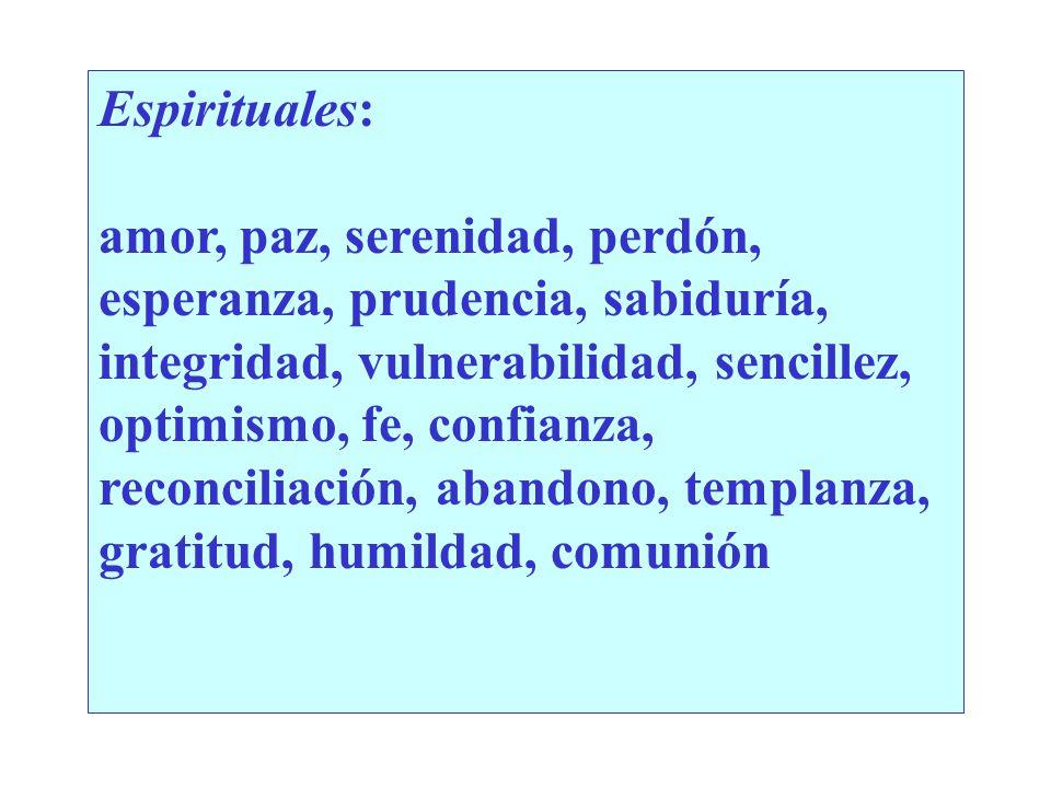 Espirituales: