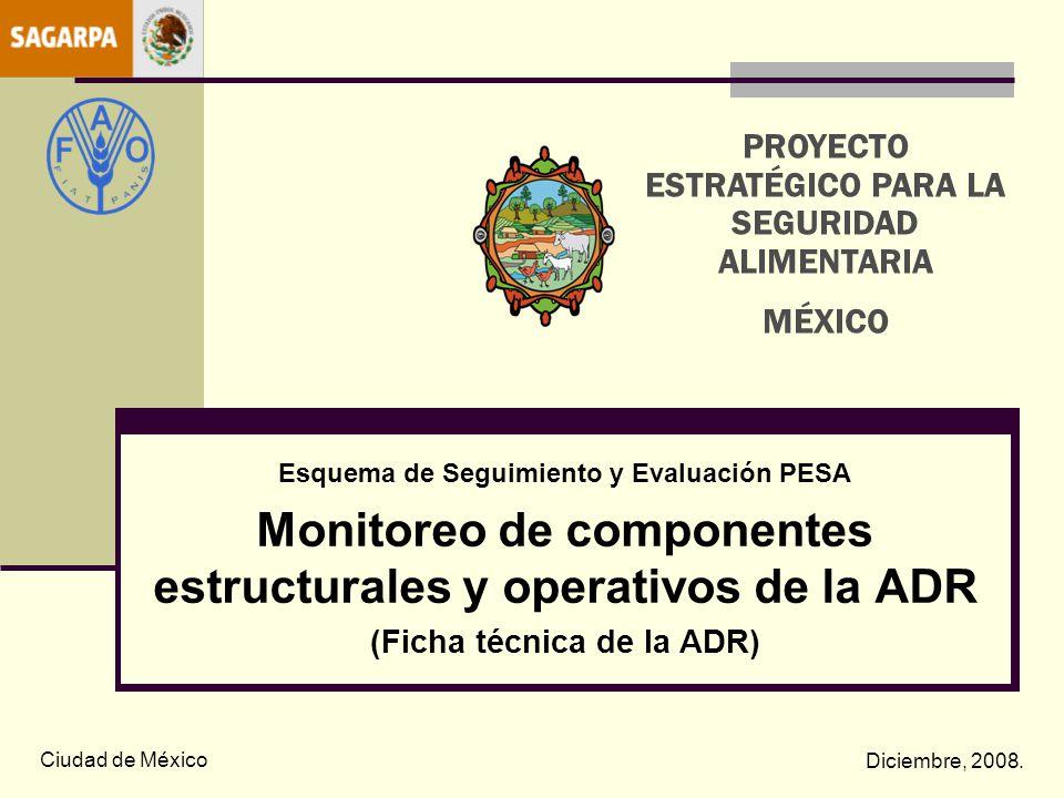 Monitoreo de componentes estructurales y operativos de la ADR