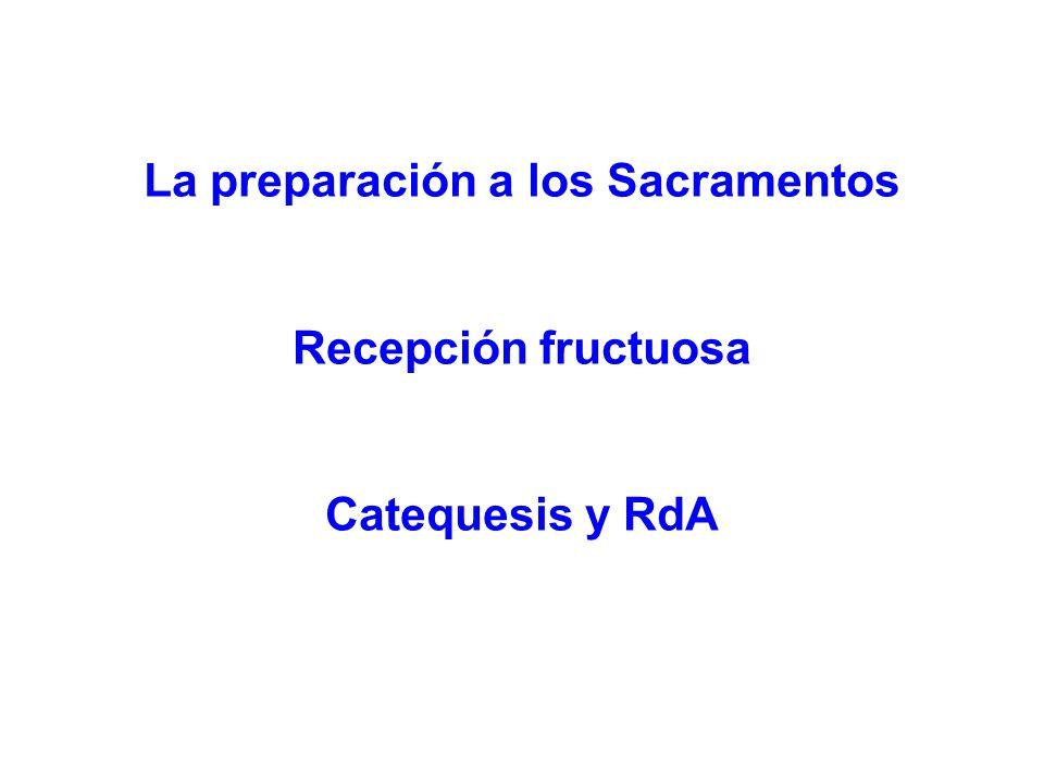 La preparación a los Sacramentos
