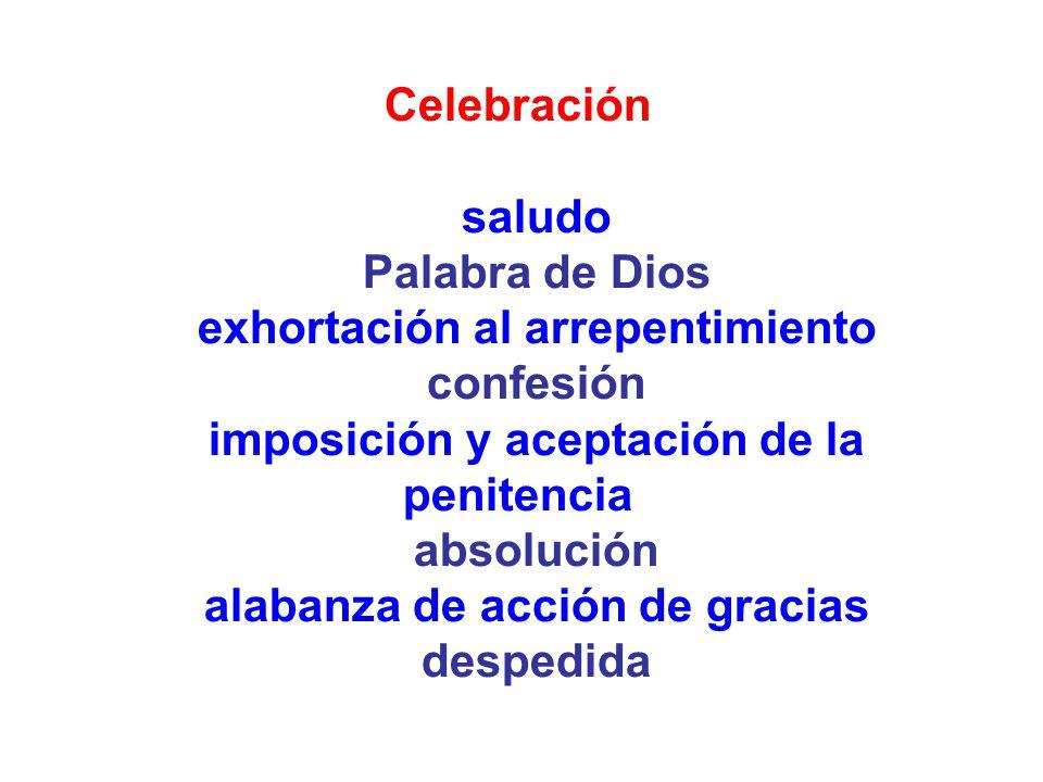 exhortación al arrepentimiento confesión
