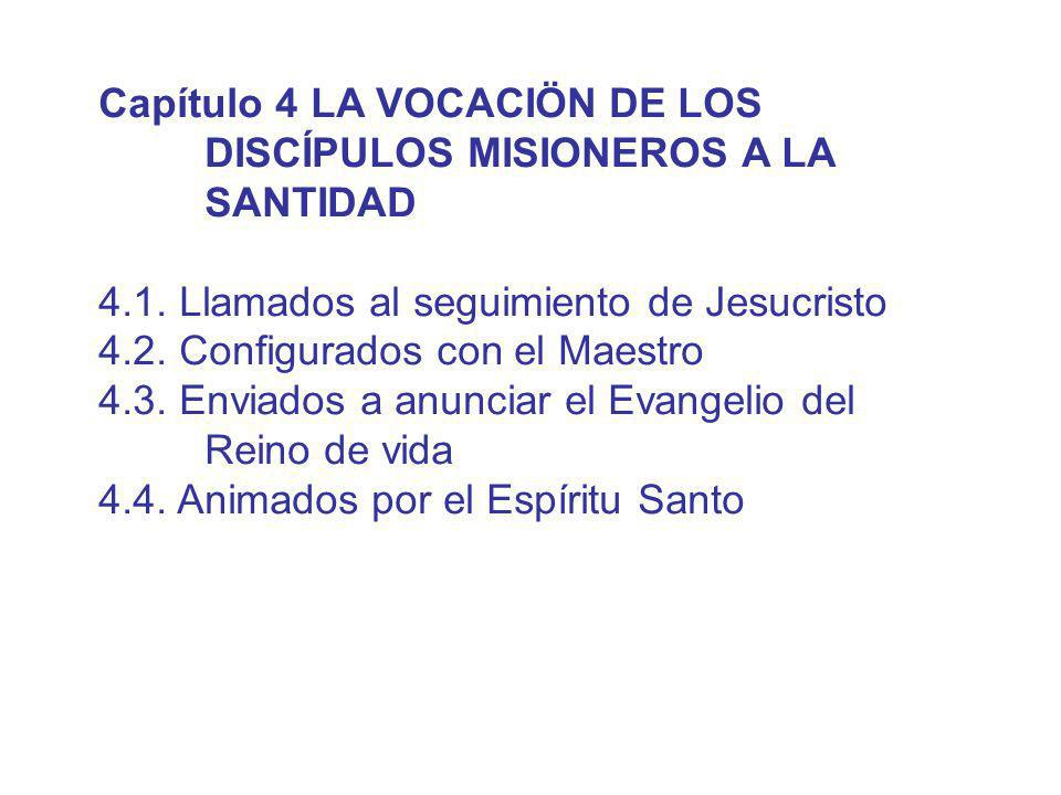 Capítulo 4 LA VOCACIÖN DE LOS DISCÍPULOS MISIONEROS A LA SANTIDAD