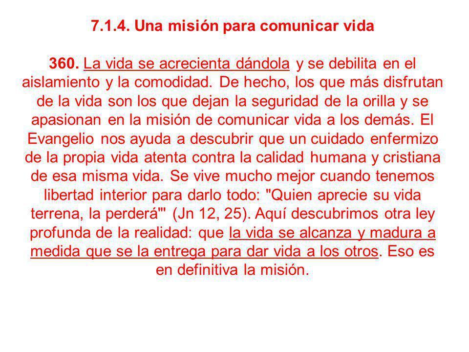 7.1.4. Una misión para comunicar vida