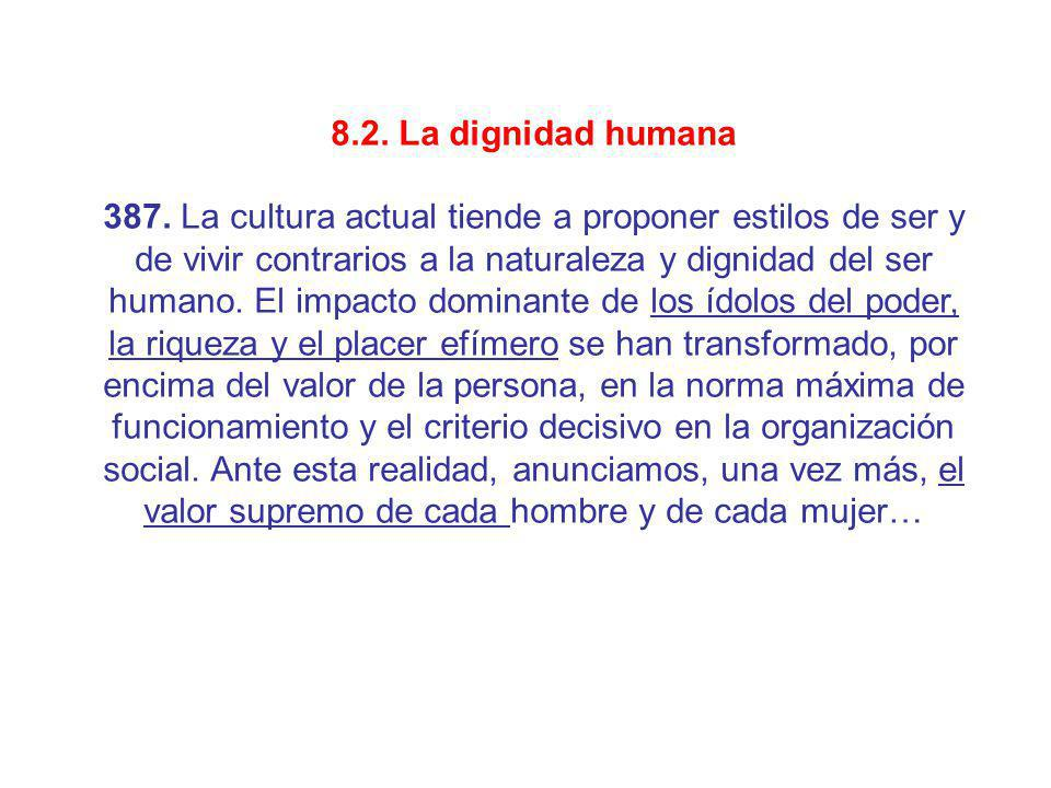 8.2. La dignidad humana