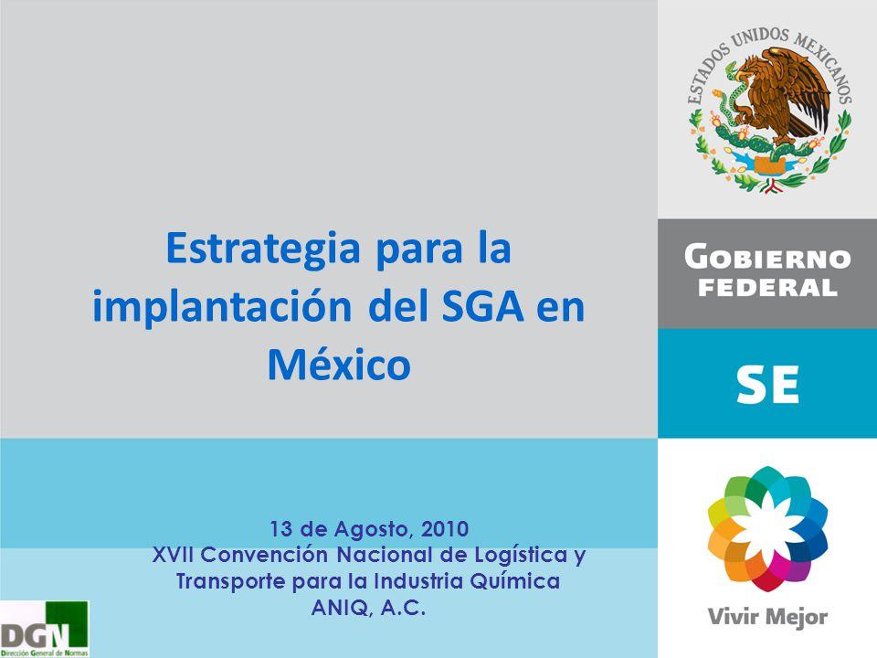 Estrategia para la implantación del SGA en México