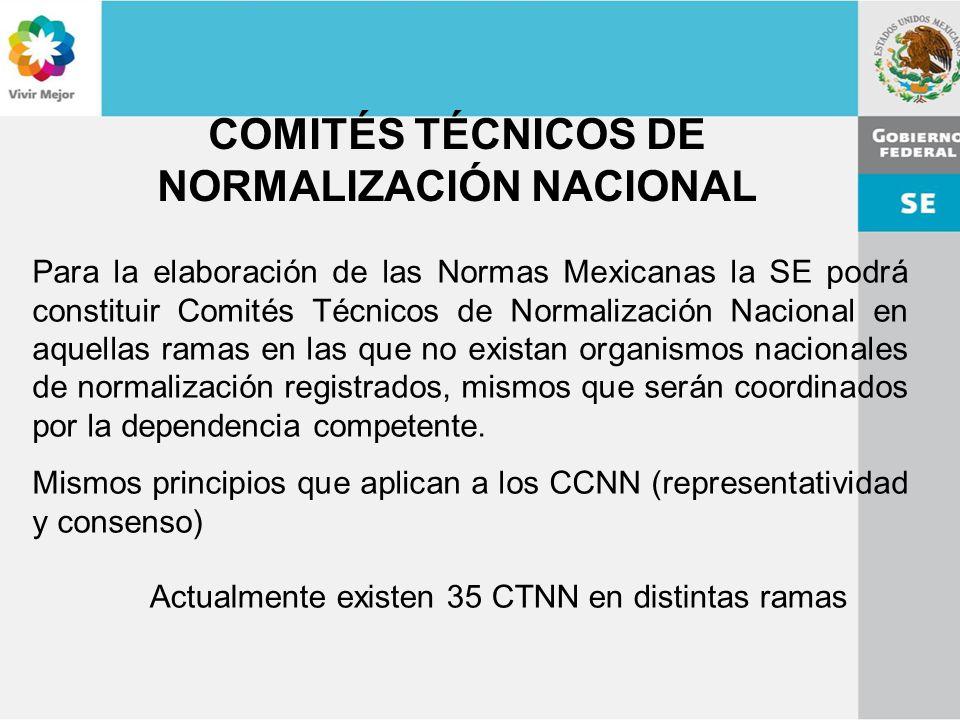 COMITÉS TÉCNICOS DE NORMALIZACIÓN NACIONAL
