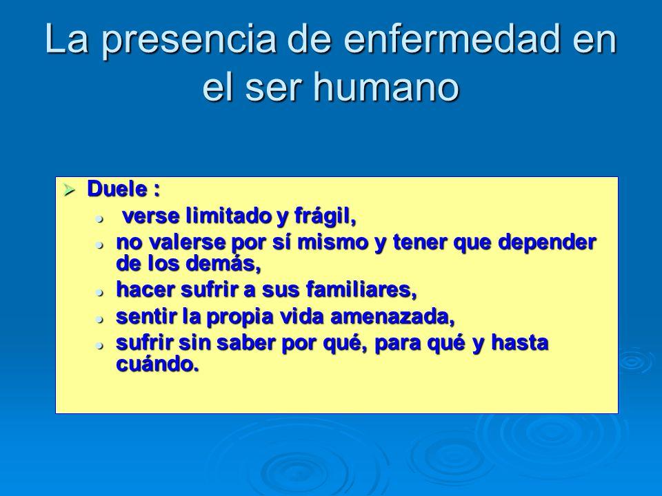 La presencia de enfermedad en el ser humano