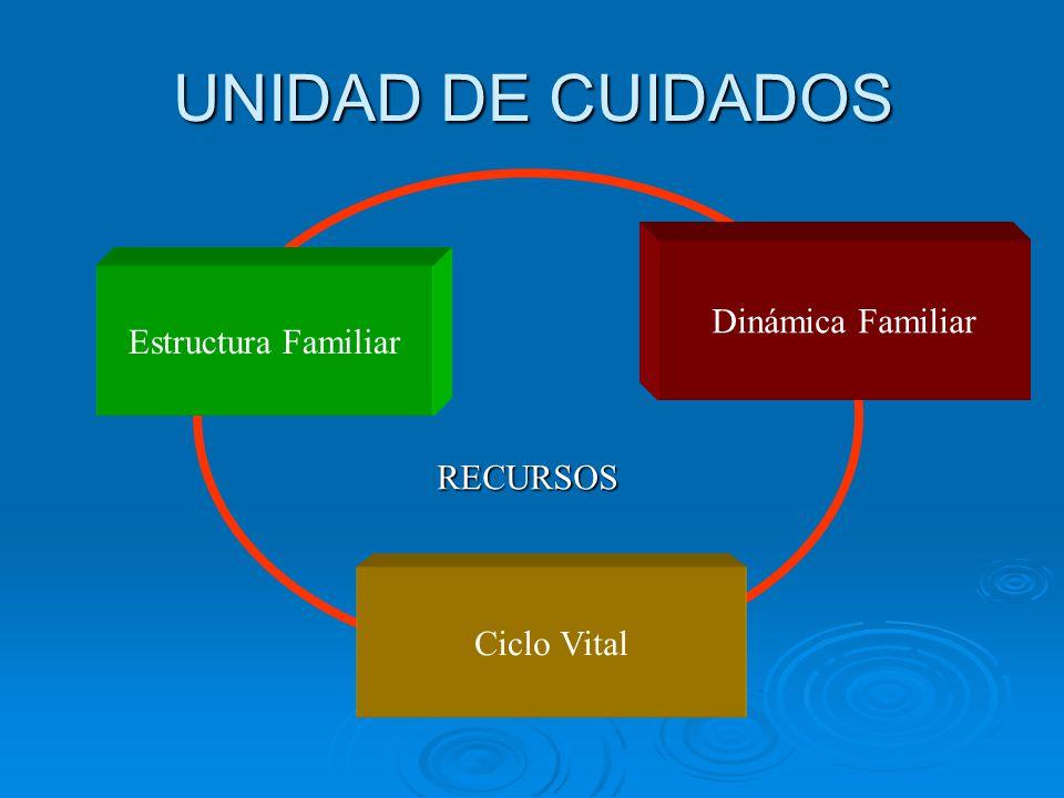 UNIDAD DE CUIDADOS Dinámica Familiar Estructura Familiar RECURSOS