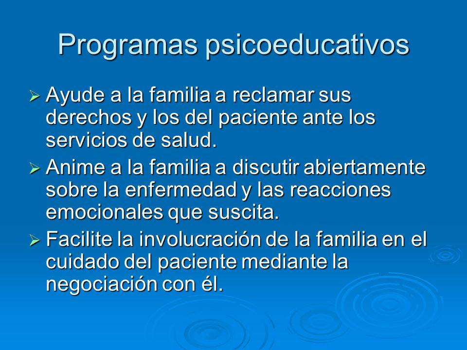 Programas psicoeducativos