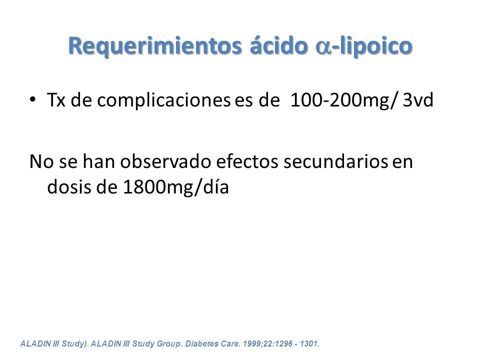 Requerimientos ácido -lipoico