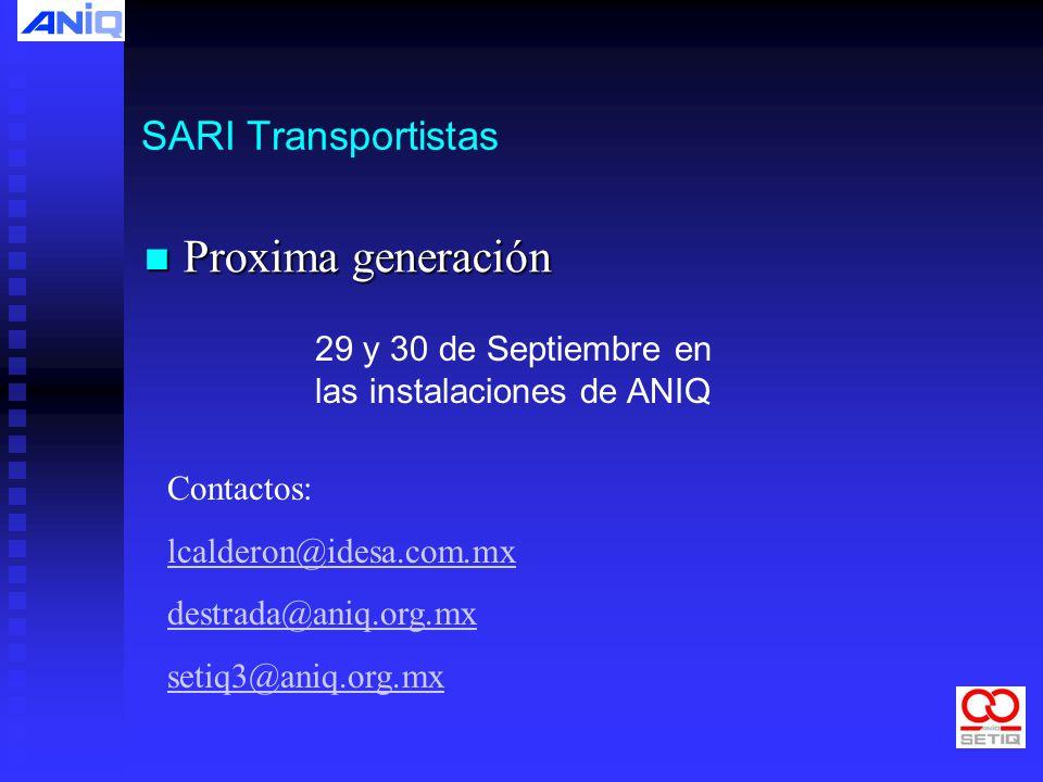 Proxima generación SARI Transportistas