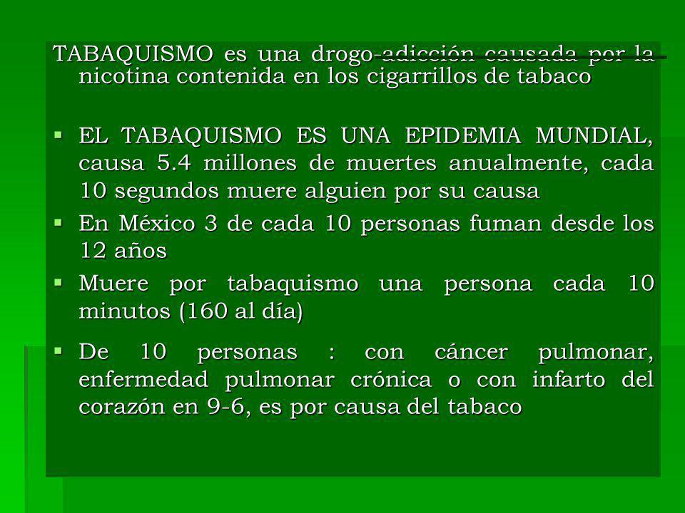 En México 3 de cada 10 personas fuman desde los 12 años