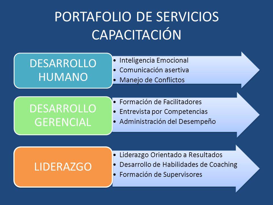 PORTAFOLIO DE SERVICIOS CAPACITACIÓN