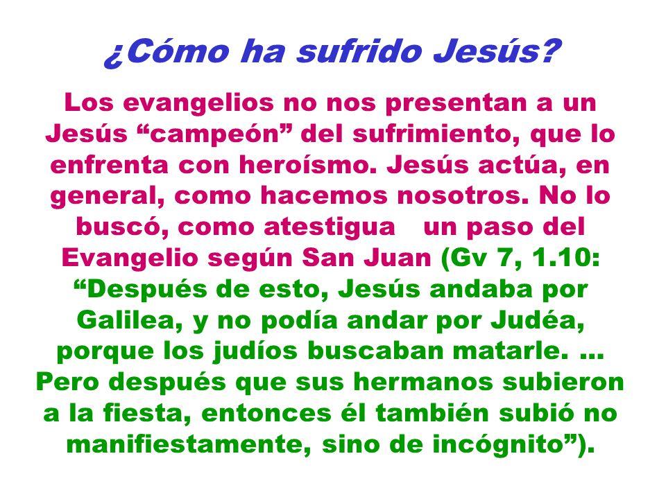 ¿Cómo ha sufrido Jesús