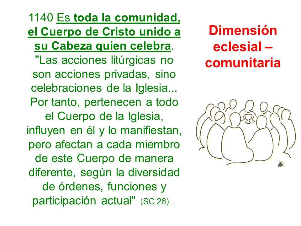 Dimensión eclesial – comunitaria