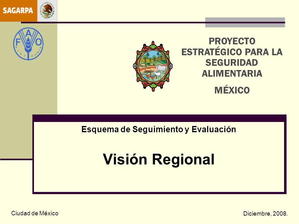 Esquema de Seguimiento y Evaluación Visión Regional