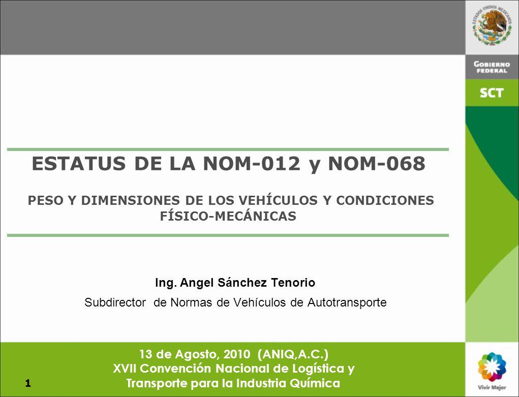 ESTATUS DE LA NOM-012 y NOM-068
