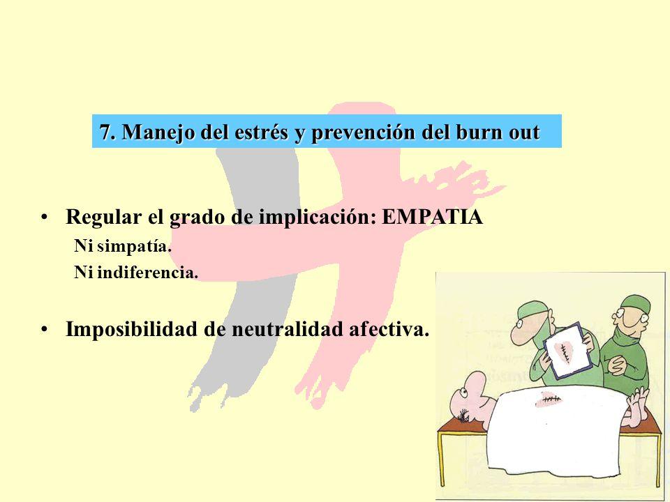 7. Manejo del estrés y prevención del burn out