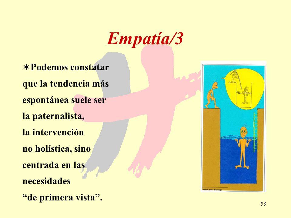 Empatía/3 Podemos constatar que la tendencia más espontánea suele ser