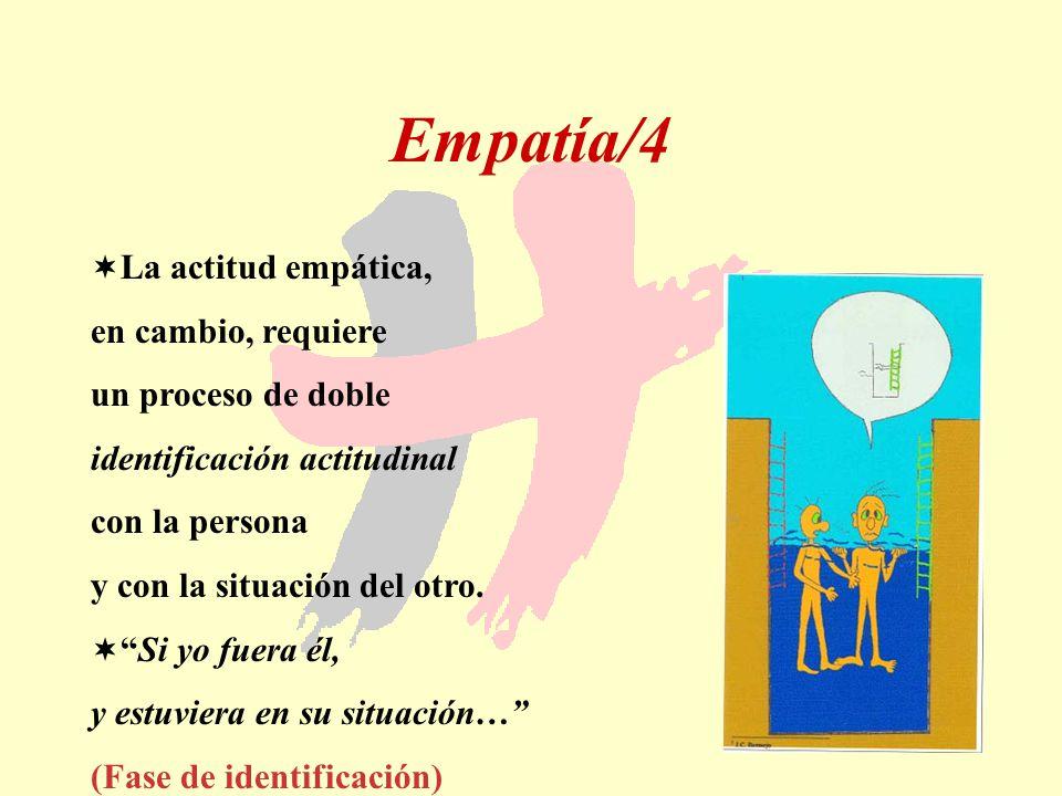 Empatía/4 La actitud empática, en cambio, requiere un proceso de doble