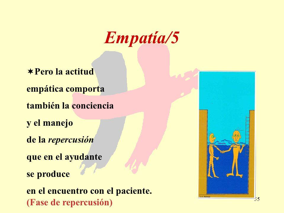 Empatía/5 Pero la actitud empática comporta también la conciencia