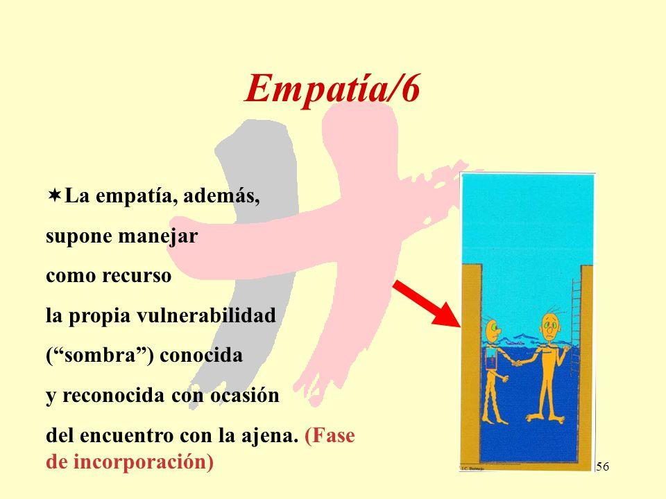 Empatía/6 La empatía, además, supone manejar como recurso