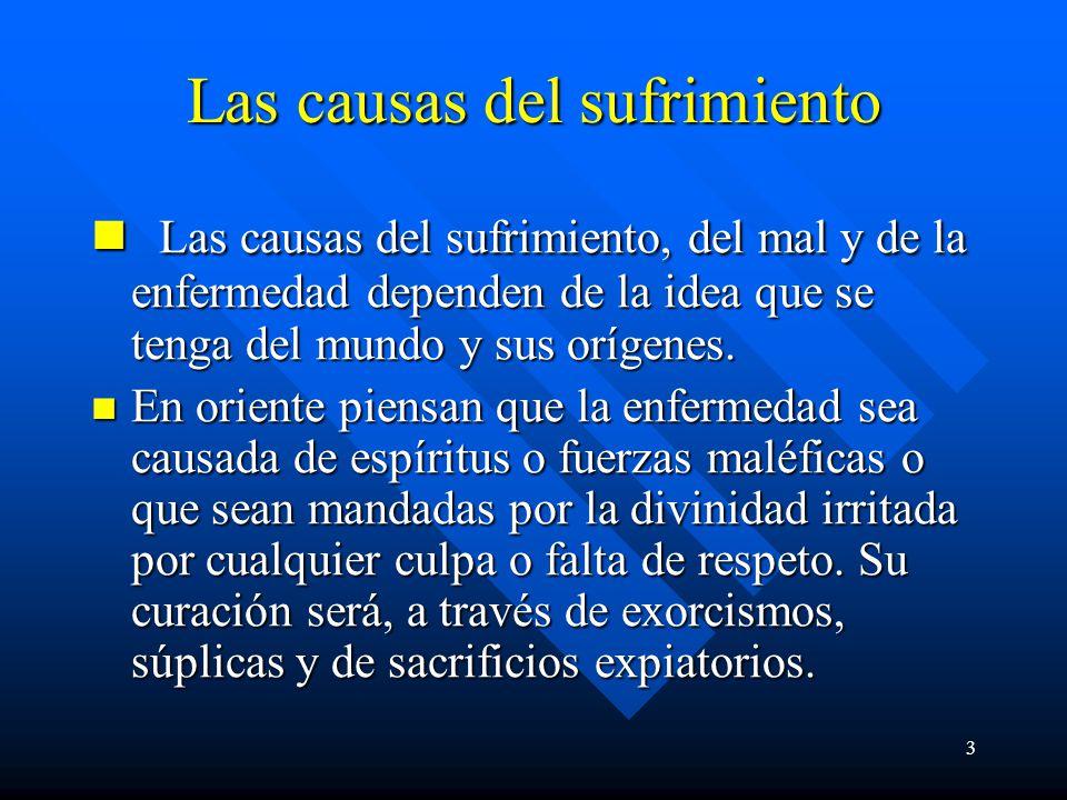 Las causas del sufrimiento