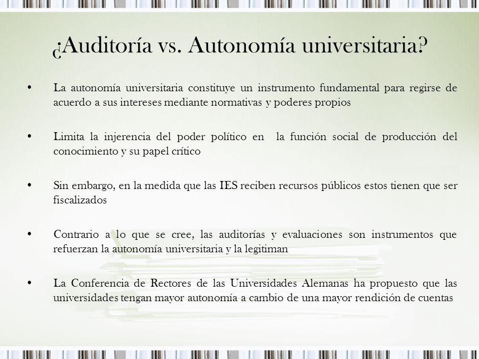¿Auditoría vs. Autonomía universitaria