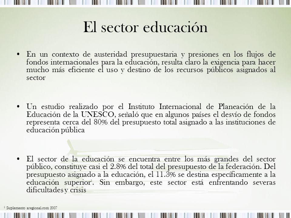 El sector educación
