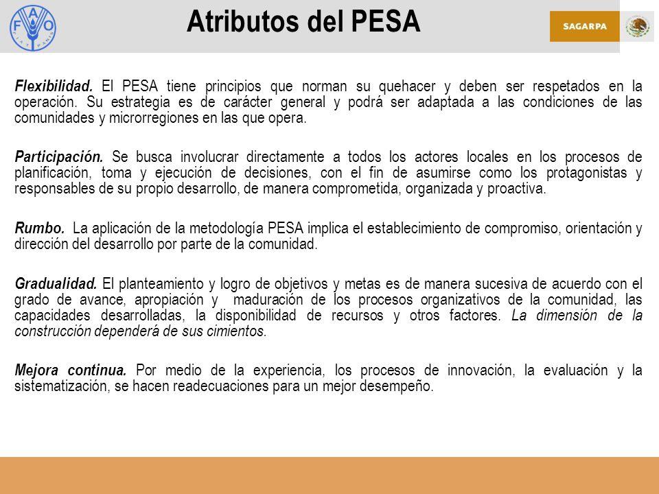 Atributos del PESA